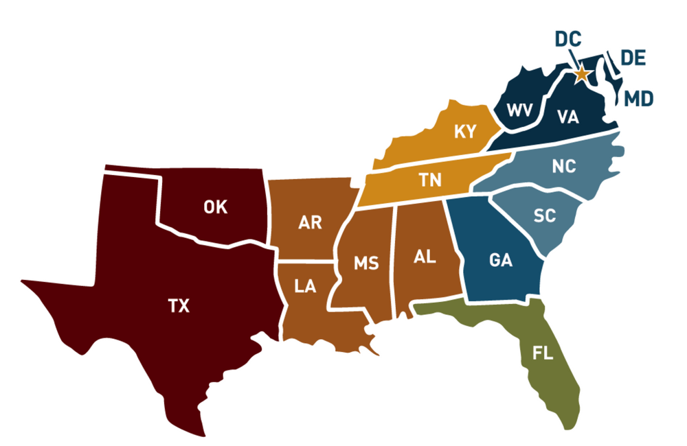 Southern Teachers Maps of the South